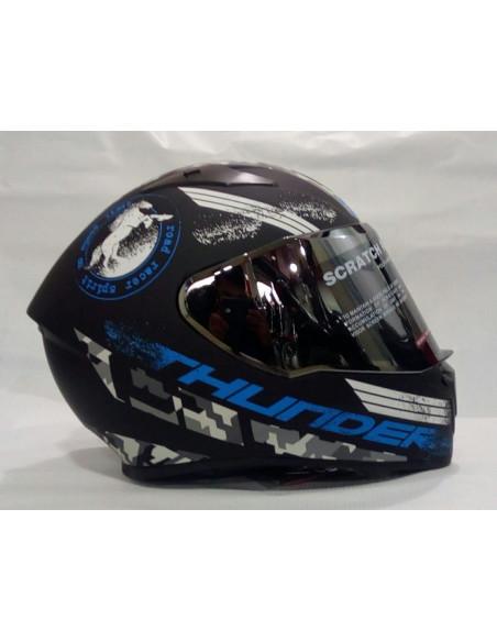 Studds Thunder Decor D2 Matt Black N1 Blue