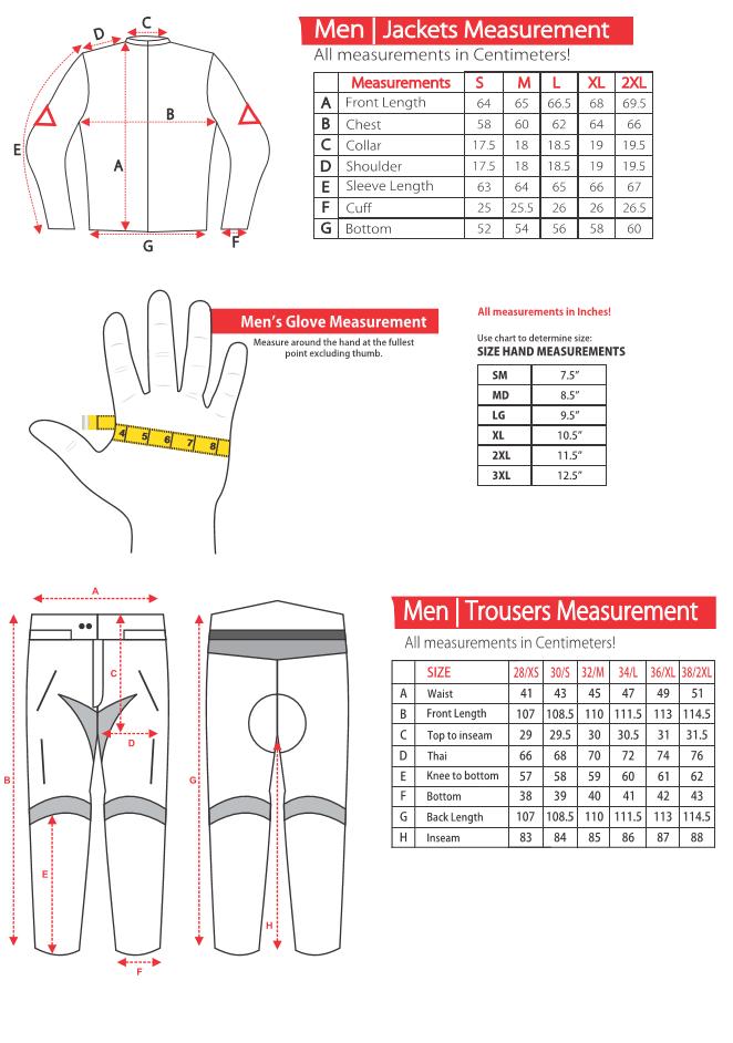 AMUR Size Chart